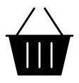 shopping basket silhouette icon 48x48 pictogram vector image vector image