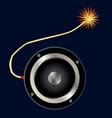 speaker bomb vector image vector image