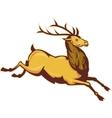 Stag deer or buck jumping