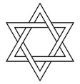 star of david icon symbol israel judaism vector image