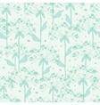 summer line art dandelions seamless pattern vector image