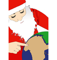 The choice of Santa Claus vector image vector image