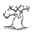 tree icon doodle hand drawn or black outline icon vector image