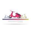 vintage electric scooter red isolated over vector image