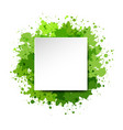 watercolor blot and banner white background vector image
