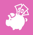 white piggy bank vector image