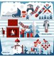 Winter banner set vector image vector image