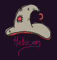 witch hat isolated on background halloween vector image