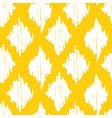yellow ikat ogee seamless pattern background vector image