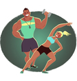 Fitness instructor and personal trainer vector image