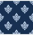Pretty blue damask style arabesque pattern vector image