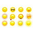 Set Suns vector image