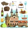 Czech Republic Prague symbol set vector image