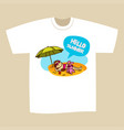 t-shirt print design summer vacation vector image