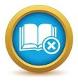 Remove book icon vector image