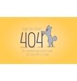404 error page not found cartoon design vector image vector image