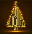 abstract technology glowing christmas tree vector image