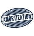 amortization grunge rubber stamp vector image