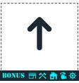 arrow up icon flat vector image vector image