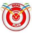 arrows leading to the goal vector image vector image