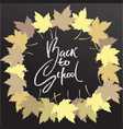 back to school chalk lettering on blackboard vector image vector image