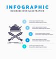 battle emblem viking warrior swords infographics vector image vector image
