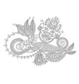 beautiful hand drawing paisley flower design vector image