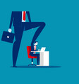 boss pressure at office work concept business vector image