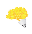 brain Energy saving lightbulb vector image