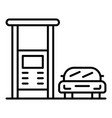 car gas station icon outline style vector image