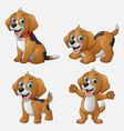 cartoon funny dogs collection set vector image vector image