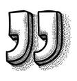 cartoon image of quote icon quote symbol vector image vector image