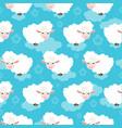 cartoon sheep seamless pattern vector image