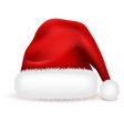 christmas santa claus hat with fur isolated on vector image