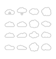 Cloud line web icons for cloud computing vector image vector image