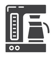 coffee maker solid icon kitchen and appliance vector image