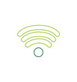 color line wifi symbol of digital internet vector image