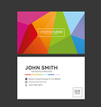 Colorful Creative Business Card vector image