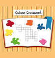 colour crossword game template vector image