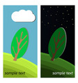 day and night on a clearing in the forest vector image vector image