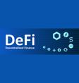 defi - decentralized finance altcoins symbols vector image vector image