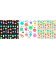 emoji from geometric figures set and seamless vector image