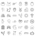 farm icons set outline style vector image vector image
