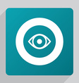 flat eye icon vector image vector image