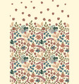 floral vintage seamless pattern retro plants vector image