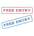 free entry textile stamps vector image vector image