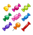 Funny cartoon colorful candies set vector image vector image