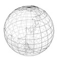 globe contour rendering of 3d vector image vector image