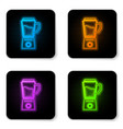 glowing neon blender icon isolated on white vector image vector image
