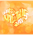 happy valentines day romantic lettering vector image vector image
